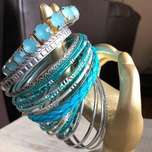 Beautiful Blue Bangle Bracelets